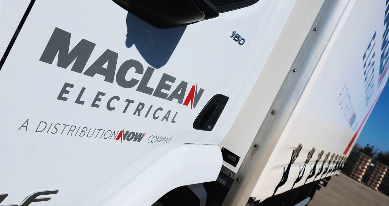 Maclean logo on truck