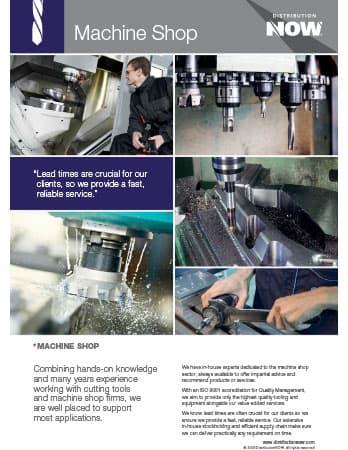 DNOW UK Ltd Machine Shop Flyer [A4]