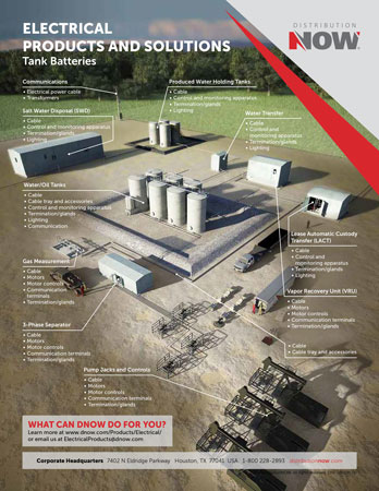 DNOW Electrical Products & Solutions for Tank Batteries Flyer