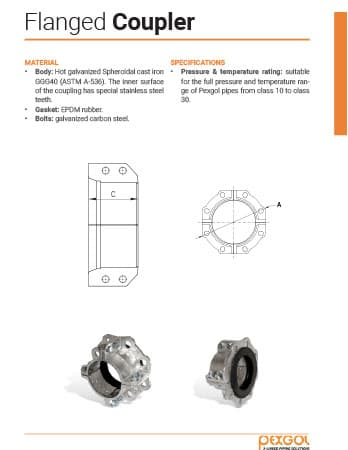 Pexgol Flanged Coupler Flyer