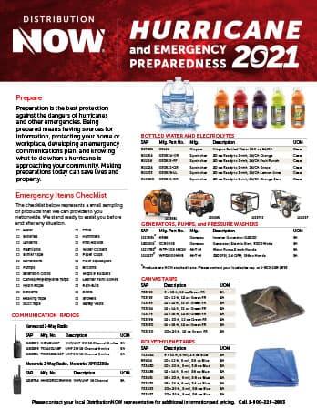DNOW Hurricane & Emergency Prep Flyer