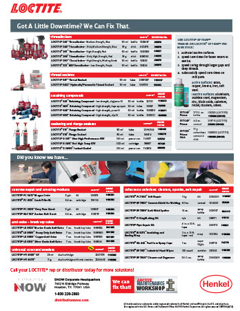 DNOW Loctite Sealants & Lubricants Flyer