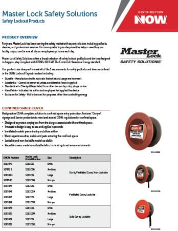 DNOW Master Lock Safety Solutions Flyer