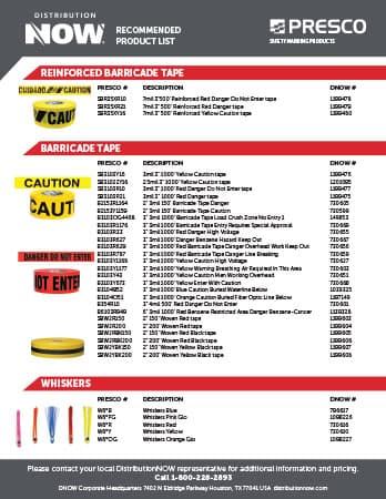 DNOW Presco Safety Marking Products Flyer
