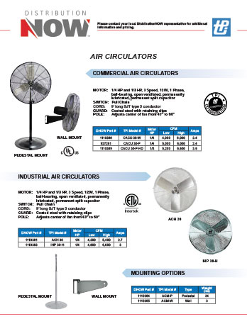 DNOW TPI Corp. Air Circulators & Fans Flyer