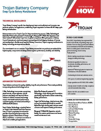 DNOW Trojan Battery Products Flyer