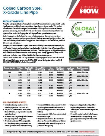 DNOW Global Tubing Product Flyer