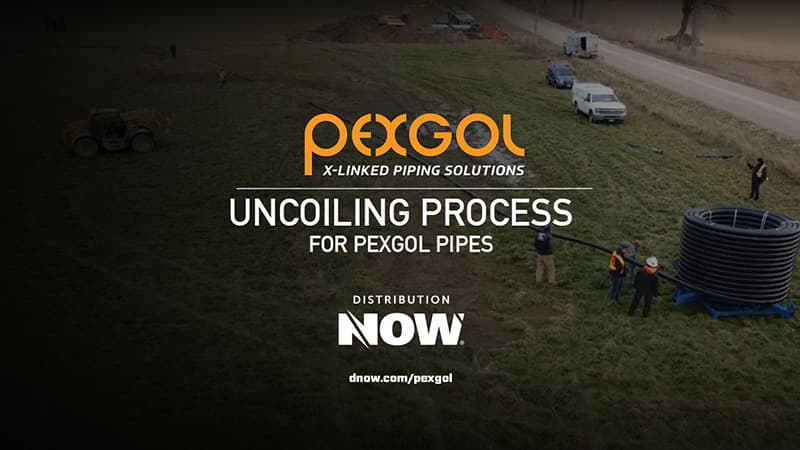Pexgol PE-Xa Pipe Uncoiling Process Video