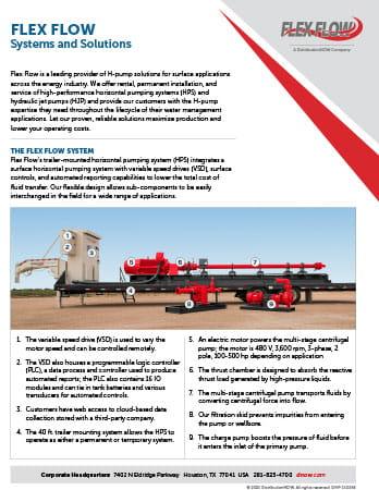 Flex Flow H-Pump Solutions Flyer