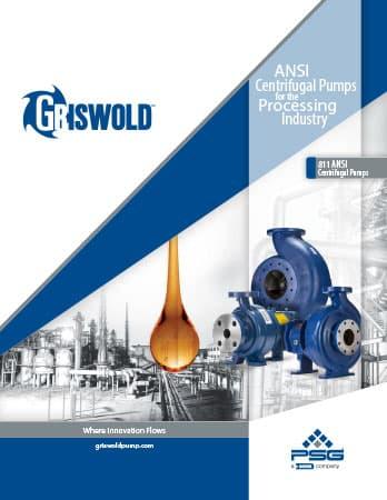 Griswold Model 811 ANSI Centrifugal Pumps Brochure