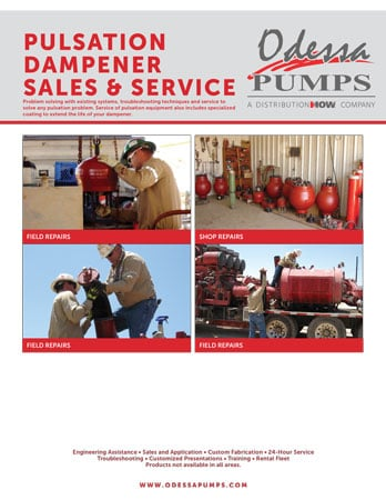 Odessa Pumps Pulsation Dampener Flyer