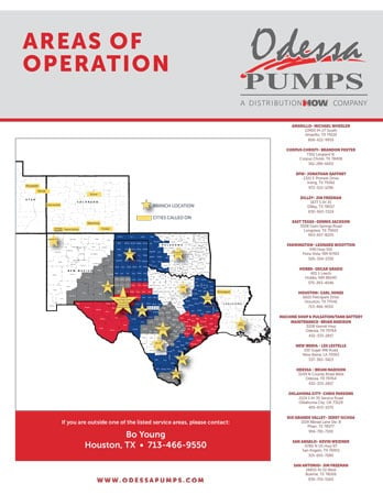 Odessa Pumps Areas of Operation Flyer