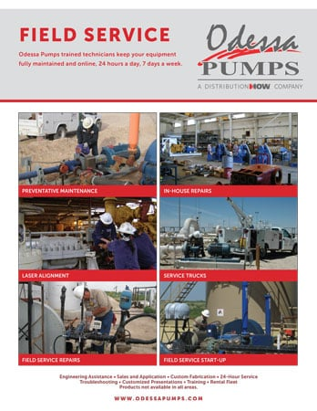Odessa Pumps Field Service Flyer