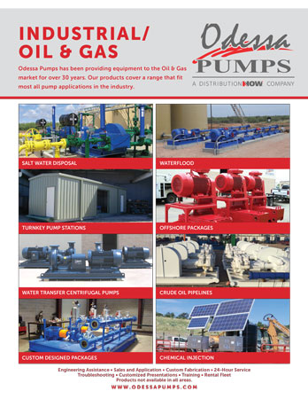 Odessa Pumps Industrial Oil & Gas Applications Flyer