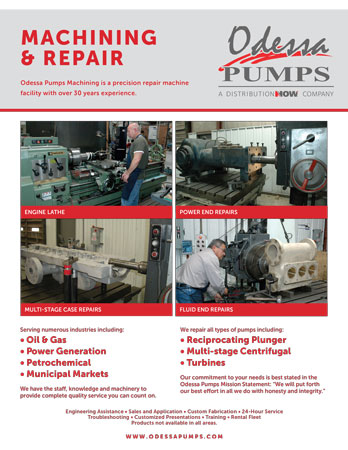 Odessa Pumps Machining & Repair Flyer