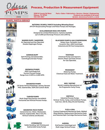 Odessa Pumps Manufacturer Line Sheet