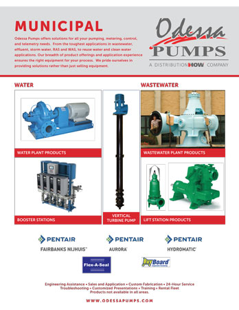 Odessa Pumps Municipal Water Applications Flyer