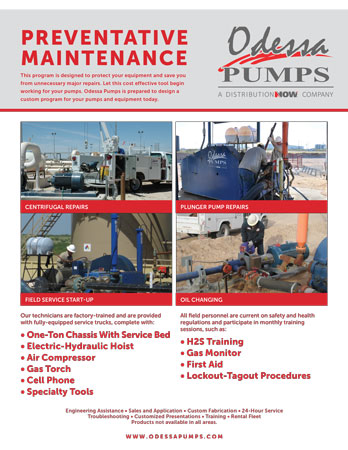 Odessa Pumps Preventative Maintenance Flyer