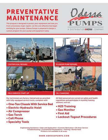 Odessa Pumps Preventative Maintenance Flyer