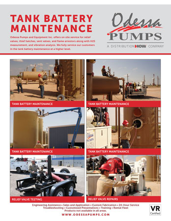 Odessa Pumps Tank Battery Maintenance Flyer