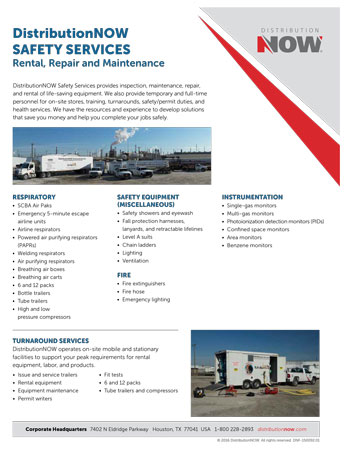 DNOW Safety Services Rental, Repair & Maintenance Flyer